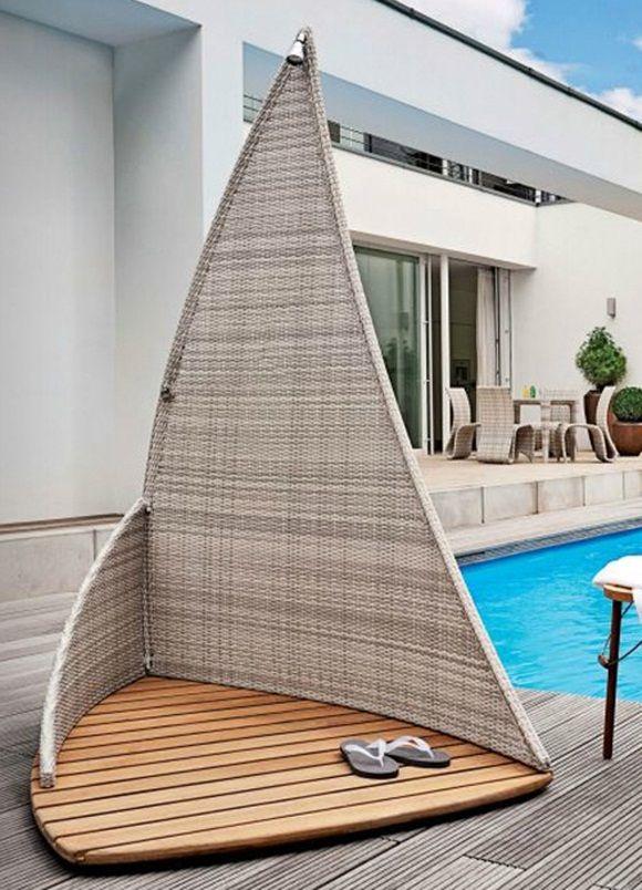 modern garden shower