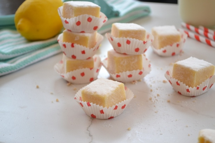 reduced fat lemon bars. replaced a portion of butter with Greek yogurt ...