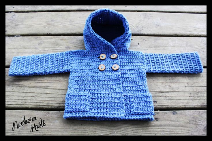 Crochet Patterns For Baby Boy Booties : CROCHET PATTERN For Baby Boy or Girls Hooded Sweater Coat ...