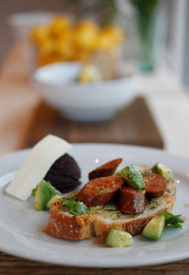 ... TOMORROW!!!!! chorizo and avocado on sourdough toast // Adair Kitchen
