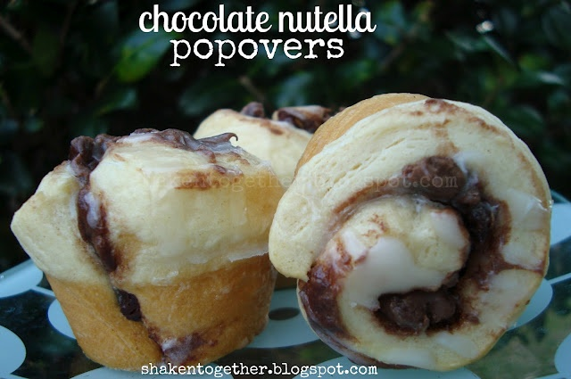Chocolate nutella popovers | Cupcakes and Doughnuts | Pinterest