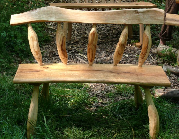 Greenwood bench | green woodworking | Pinterest