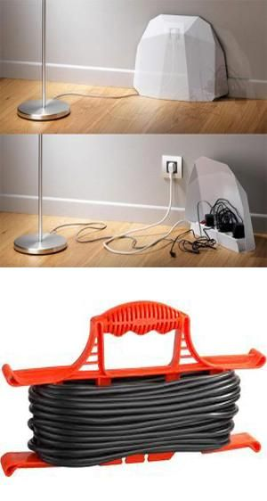 Organize cable clutter and forget where sockets are using Extension cable organizer