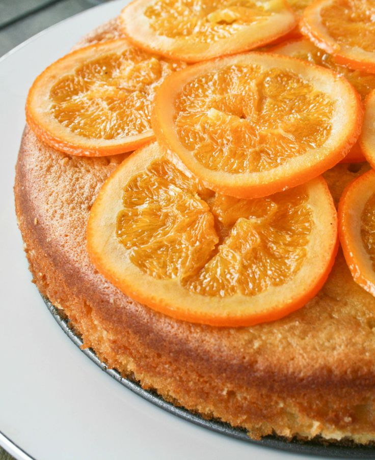 Orange Olive Oil Cake With Candied Walnuts Recipe — Dishmaps