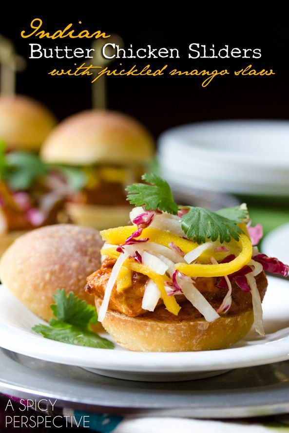 Butter Chicken Sliders with Pickled Mango Slaw | Land OLakes