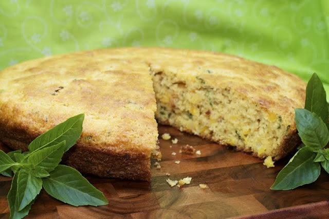 Fresh Corn & Basil Cornbread | Breakfast Bakery Basket ~ Muffins, Sco ...