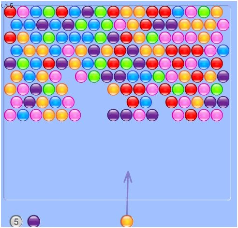 hit bubbles free online game