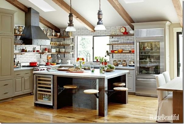 House Beautiful Rustic Kitchen Interiors Kitchens Pantries Pin