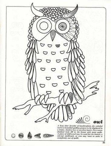 Рисунок совы для поделки 94