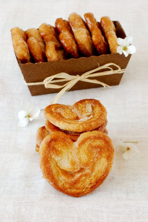 Palmiers handmade puff pastry caramelized by Janjoupatisserie @Etsy