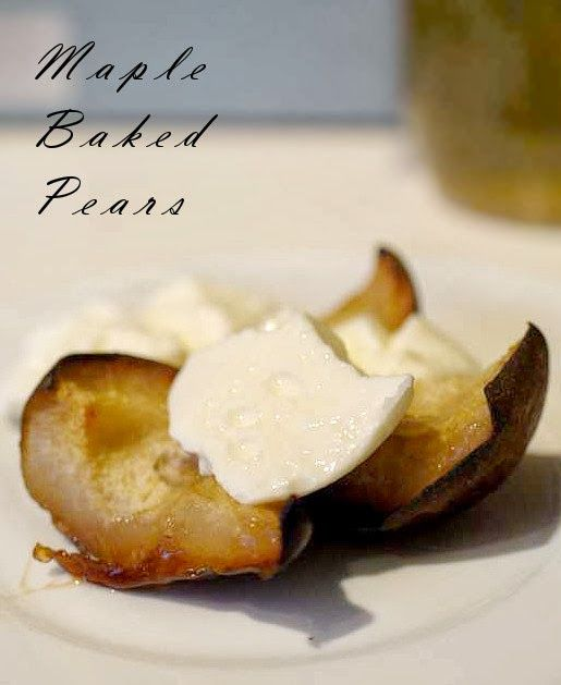 Maple Baked/Poached Pears (Paleo). To make AIP compliant, use honey ...