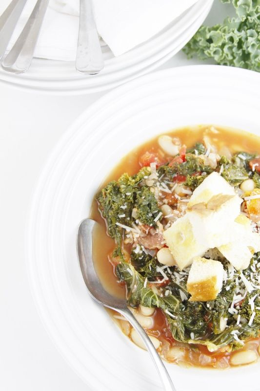 Rustic Tuscan and Kale Soup. Made this last week and it was awesome ...