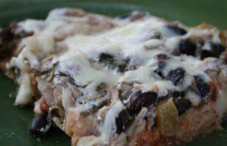 Recipe Shoebox: Layered Chicken and Black Bean Enchilada Casserole