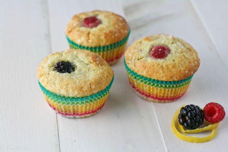 Sugar Crusted Raspberry Blackberry Muffins ~ #MuffinMonday
