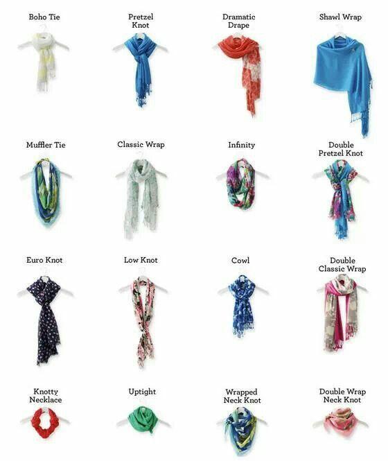 scarf tying ideas fashion