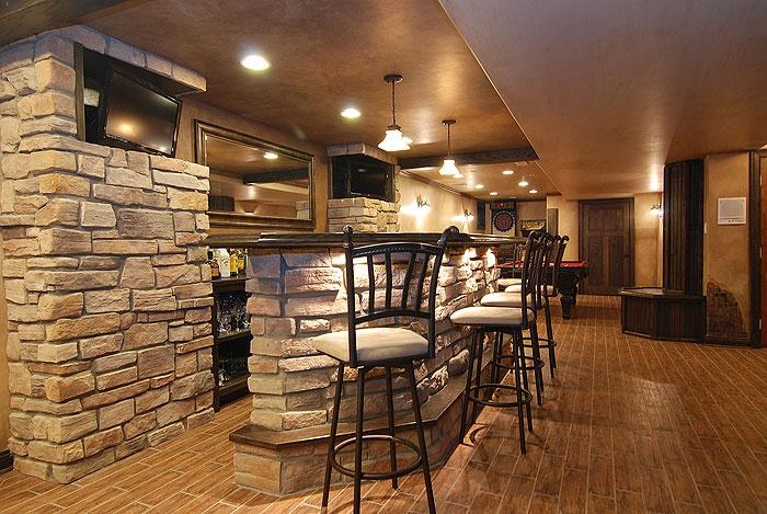 Stone Bar Basement Remodel Ideas Pinterest
