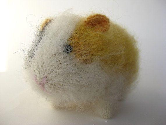 Guinea Pig, Knitted Guinea Pig, Mohair Guinea Pig, Stuffed ...
