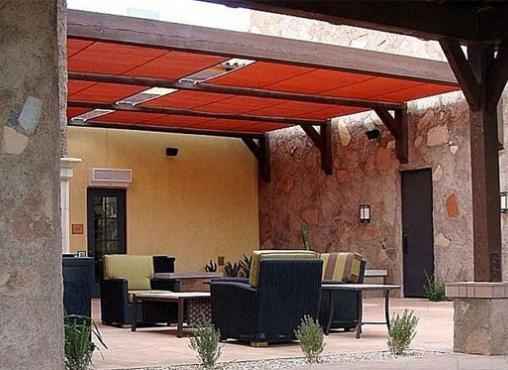Fabric Patio Cover For The Home Patio Pinterest