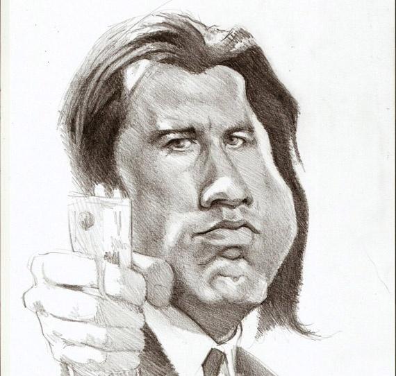 Caricature John Travolta