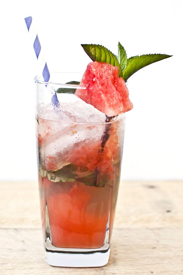 Cocktail Recipe: Watermelon Mojito | drinks! | Pinterest