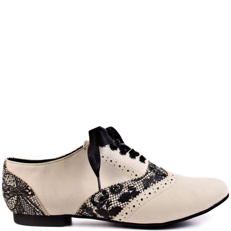Lovelace Oxford Flat - Cream  Iron Fist  SKU:ZIF183 $49.99
