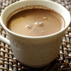 Mocha Custard with Chocolate Truffle Surprise