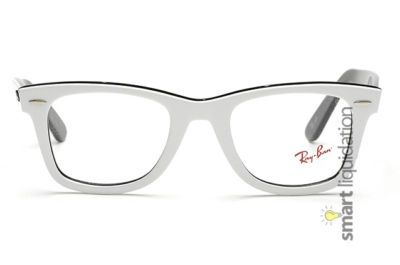 Ray Ban White Wayfarer with Clear Lens RB5121 2379 50mm 150