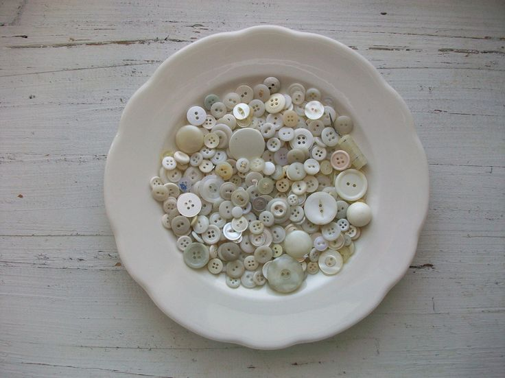 White Vintage Buttons