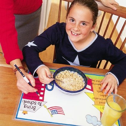 Home-to-school Place Mats