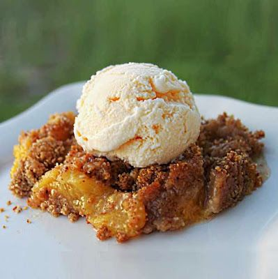 Peach Amaretti Crisp | Recipes to try... Is there enough time in my ...
