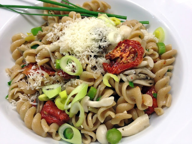 Whole Wheat Fusilli with Spring Garlic, Mushrooms, Asparagus & Oven ...