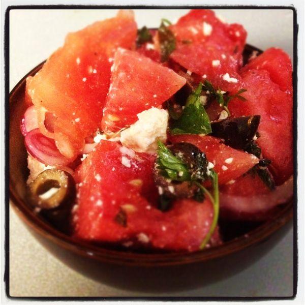 Mediterranean Watermelon Salad   Real Food OutlawsReal Food Outlaws