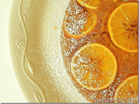 Screwdriver Cake - Orange Vodka Polenta Cake