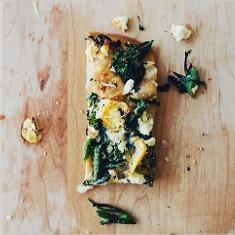 Broccolini Charred Lemon Flatbread | Bread, Pizza & more | Pinterest