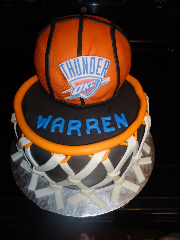 OKC Thunder Birthday Cake
