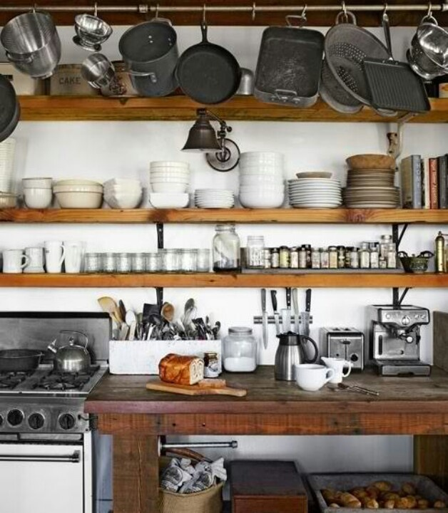 Kitchen Open Shelves Lash Kitch Pinterest