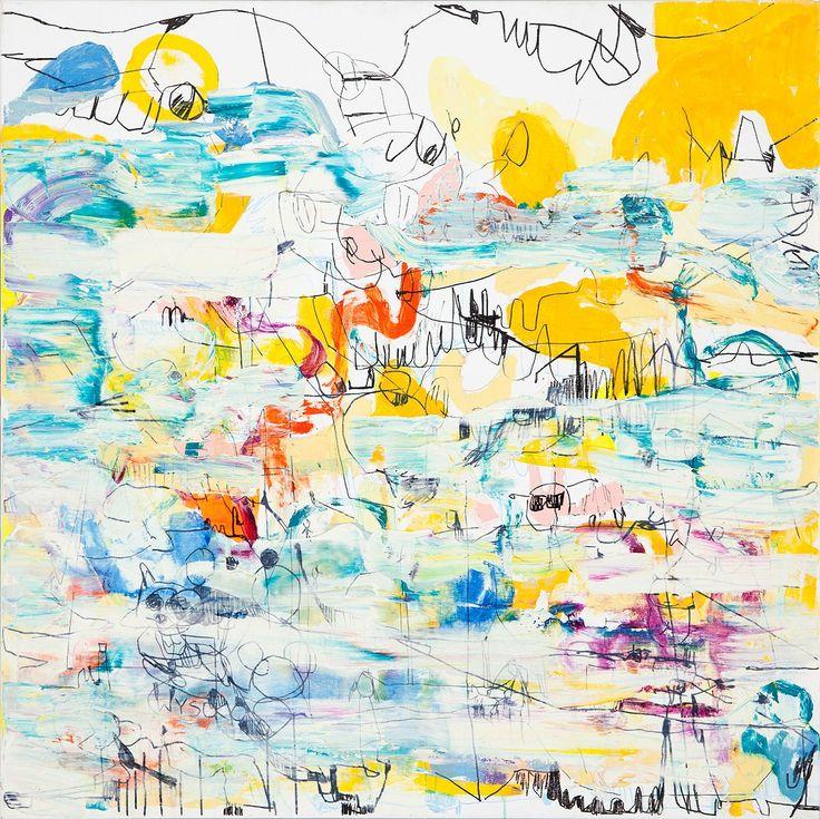 Zielaskowska Gossia, Bright Side, olej płótno, 100 x 100 cm.
