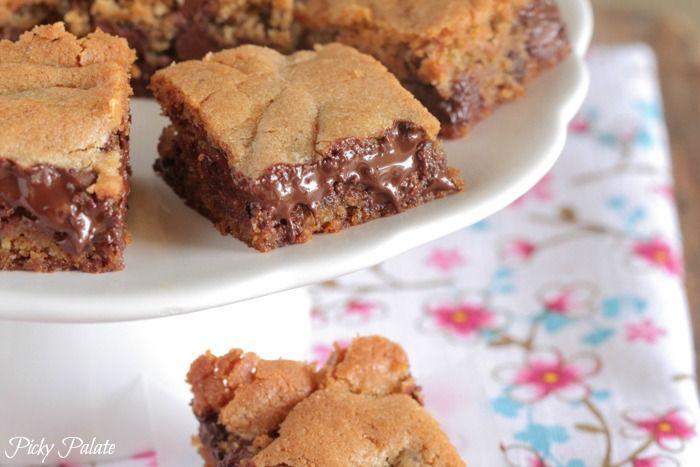 Vanilla Malted Chocolate Chip Cookie Bars - butter, brown sugar, sugar ...