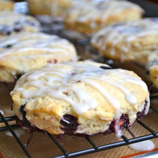 Blueberry Almond Scones are sweet, tangy, light and fluffy. They are ...