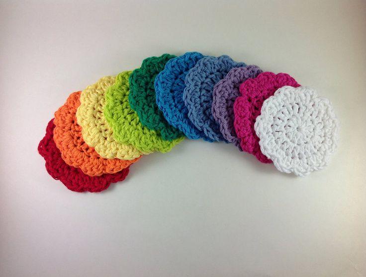 Crochet Patterns Scrubbies : Crochet Flower Face Scrubbies Pattern