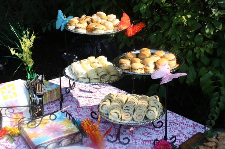 Finger foods for outdoor tea party  fall fall fall!!!  Pinterest