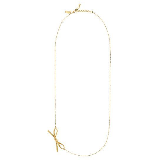 [kate spade] skinny mini long bow necklace