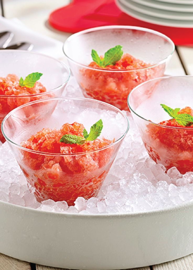 ... zesty lemon and mint. Pin and save this Tomato Watermelon Granita