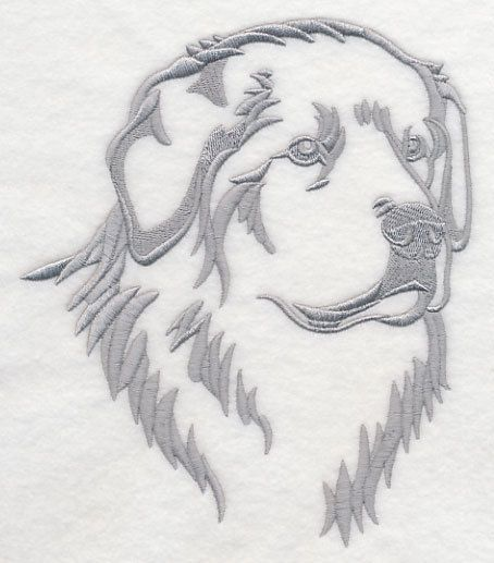 great pyrenees silhouette dog embroidered fabric quilt square Cute Pumpkin Carving Clip Art Halloween Clip Art