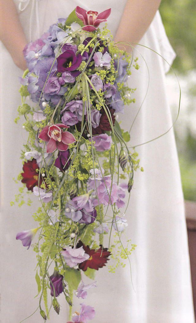 Brautstrauß Wasserfall  Hochzeit  Pinterest