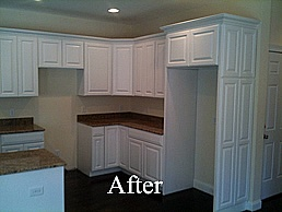 spray paint kitchen cabinets kitchen pinterest