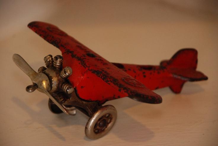 AC Williams Cast Iron Air Plane, circa 1920-1930