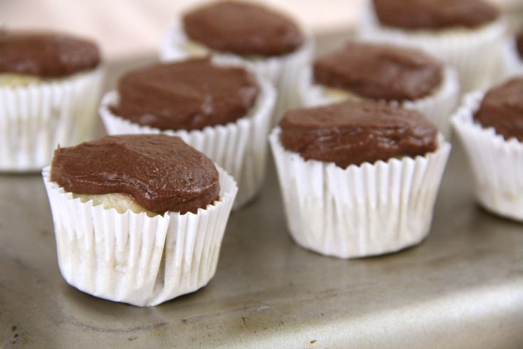 Mini Chocolate Cupcakes With Multicolored Frosting Recipe — Dishmaps