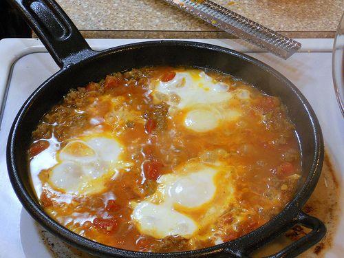 ... Moroccan Merguez Ragout with Poached Eggs. Dear Aunt Bessie, it was