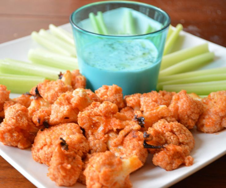 Cauliflower hot wings - Girls Gone Sporty